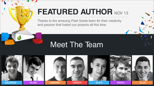 PixelGrade Featured Authors