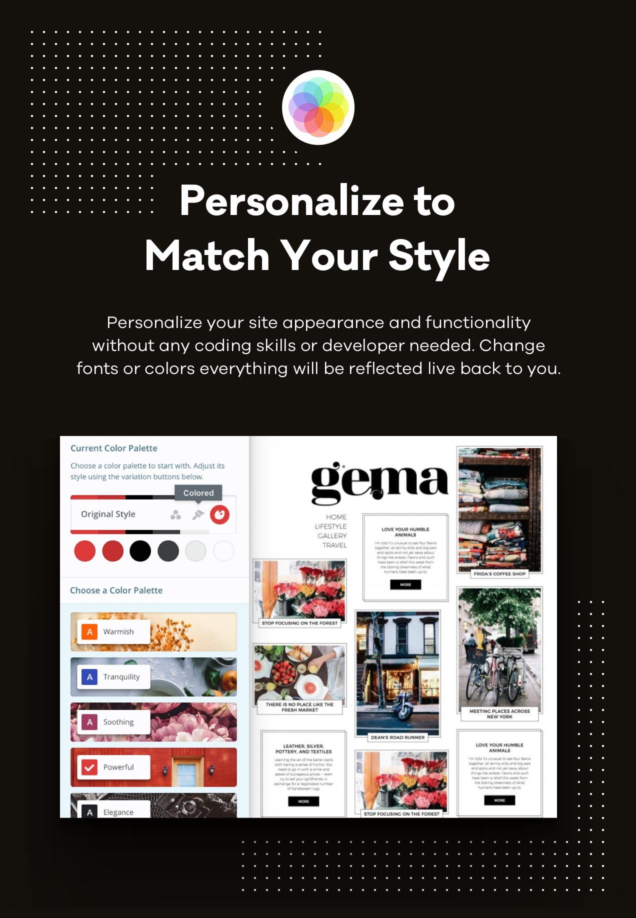 Personalize toMatch Your Style