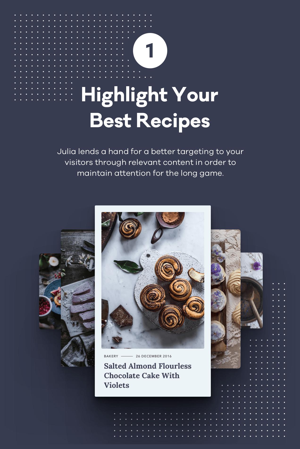 Julia – A Steady Food Blog WordPress Theme - 2