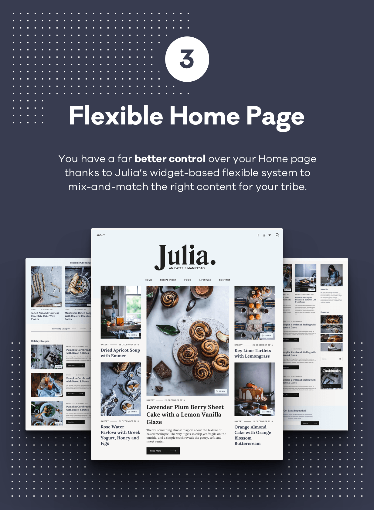 Julia – A Steady Food Blog WordPress Theme - 4