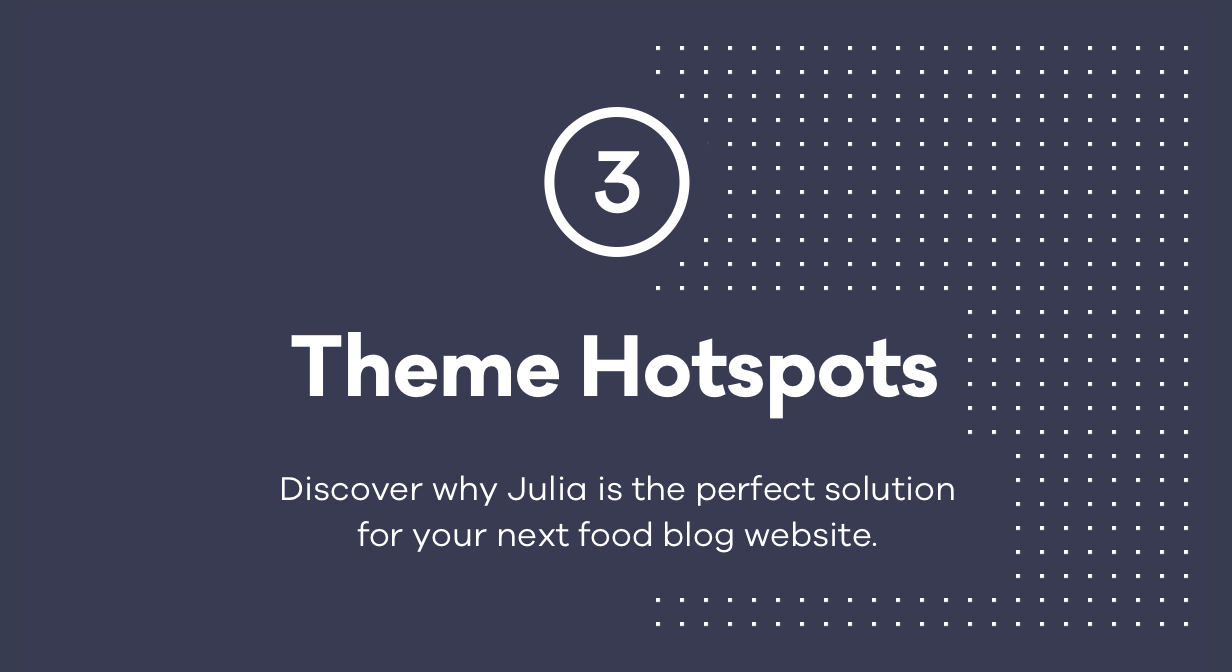 WordPress theme Julia – A Steady Food Blog WordPress Theme (Personal)