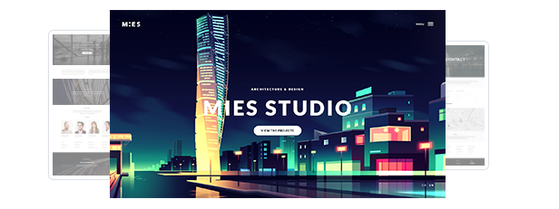 MIES - An Avant-Garde Architecture WordPress Theme - 2