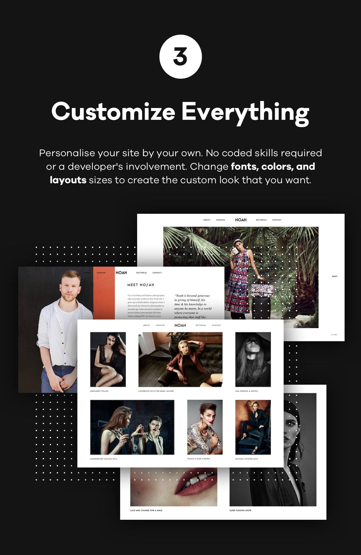 NOAH - A Witty Photography WordPress Theme - 4