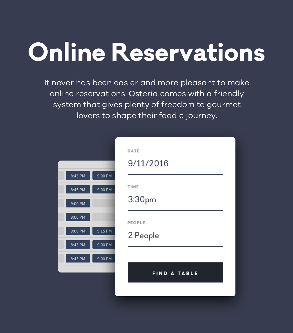 Osteria - An Engaging Restaurant WordPress Theme