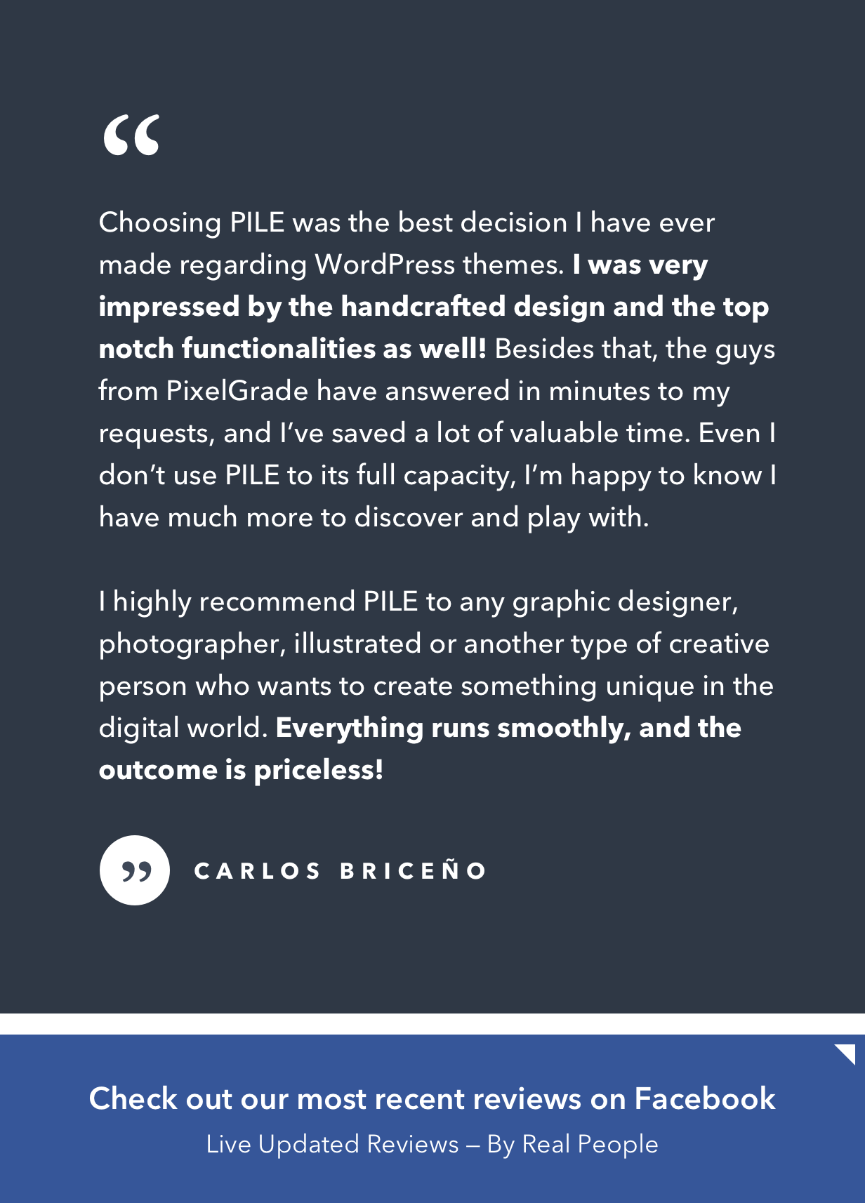 PILE An Uncoventional WordPress Portfolio Theme by pixelgrade