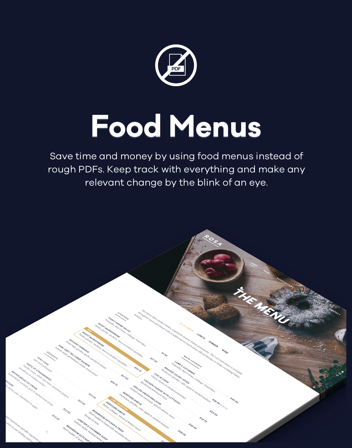 ROSA - An Exquisite Restaurant WordPress Theme - 3