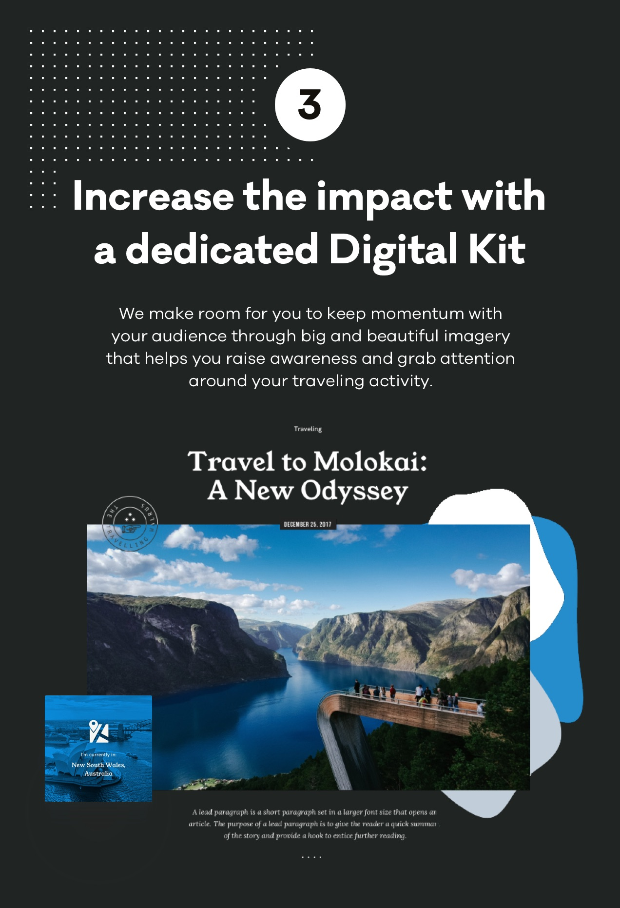 Increase the impact with a dedicated Digital Kit