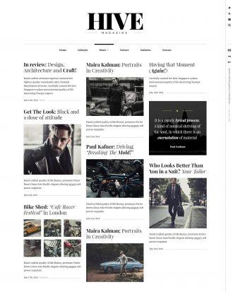 Hive a lifestyle blog WordPress theme