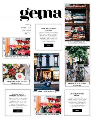 Gema a personal blog WordPress theme
