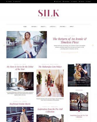 Silk a fashion blog WordPress theme