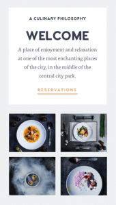 Osteria a restaurant and cafe WordPress theme Mobile Responsive