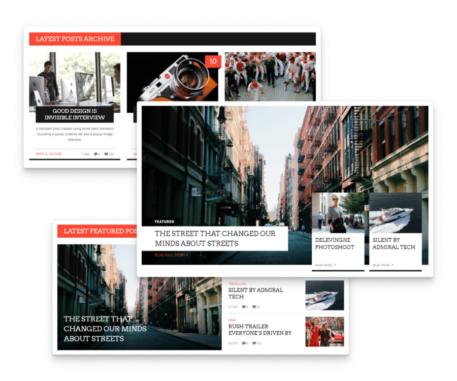 news WordPress theme with custom page builder