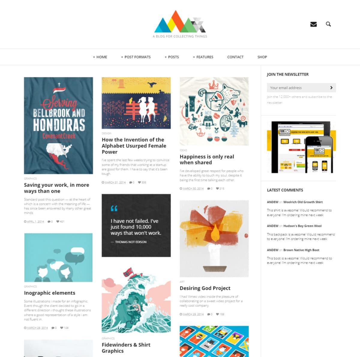 Heap simple blogging WordPress theme Desktop View