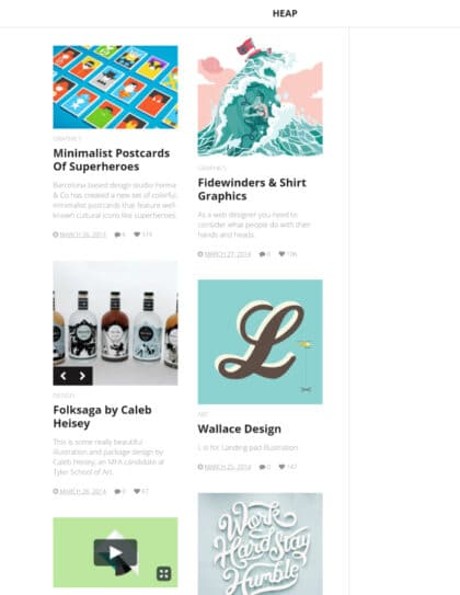 Heap simple blogging WordPress theme Tablet View