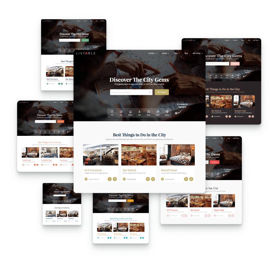 choose between multiple style prestes for your directory website
