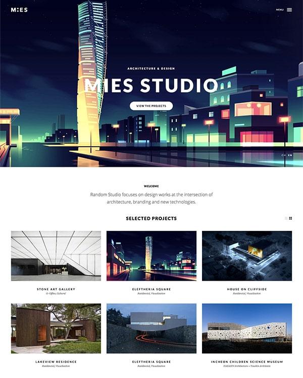 Mies Architecture WordPress theme