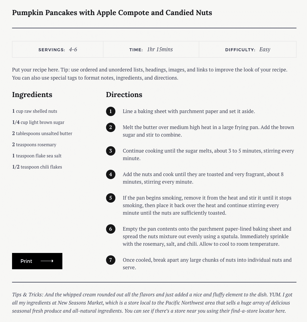 Creating Recipes Julia WP Theme Documentation Pixelgrade
