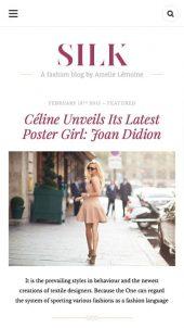 Mobile Responsive View for Silk Lite a free fashion blog WordPress theme
