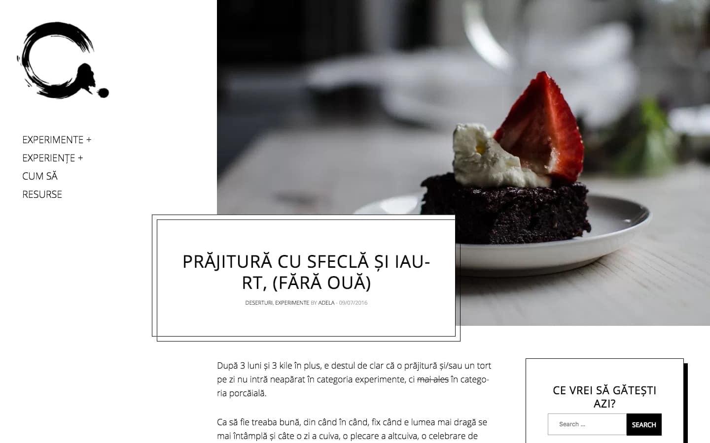 Adelicii food blog created with Gema WordPress theme