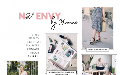 No Envy fashion, beauty, and lifestyle created with Gema WordPress theme
