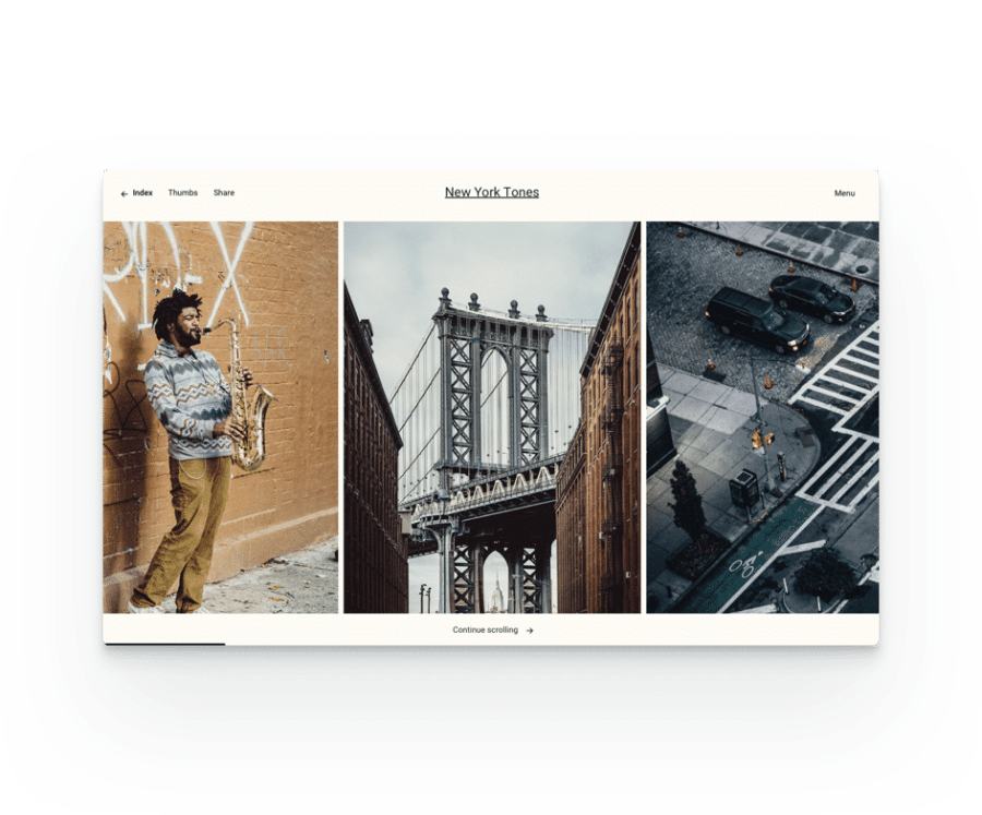 multiple portfolio layouts for Fargo a wedding photography WordPress theme