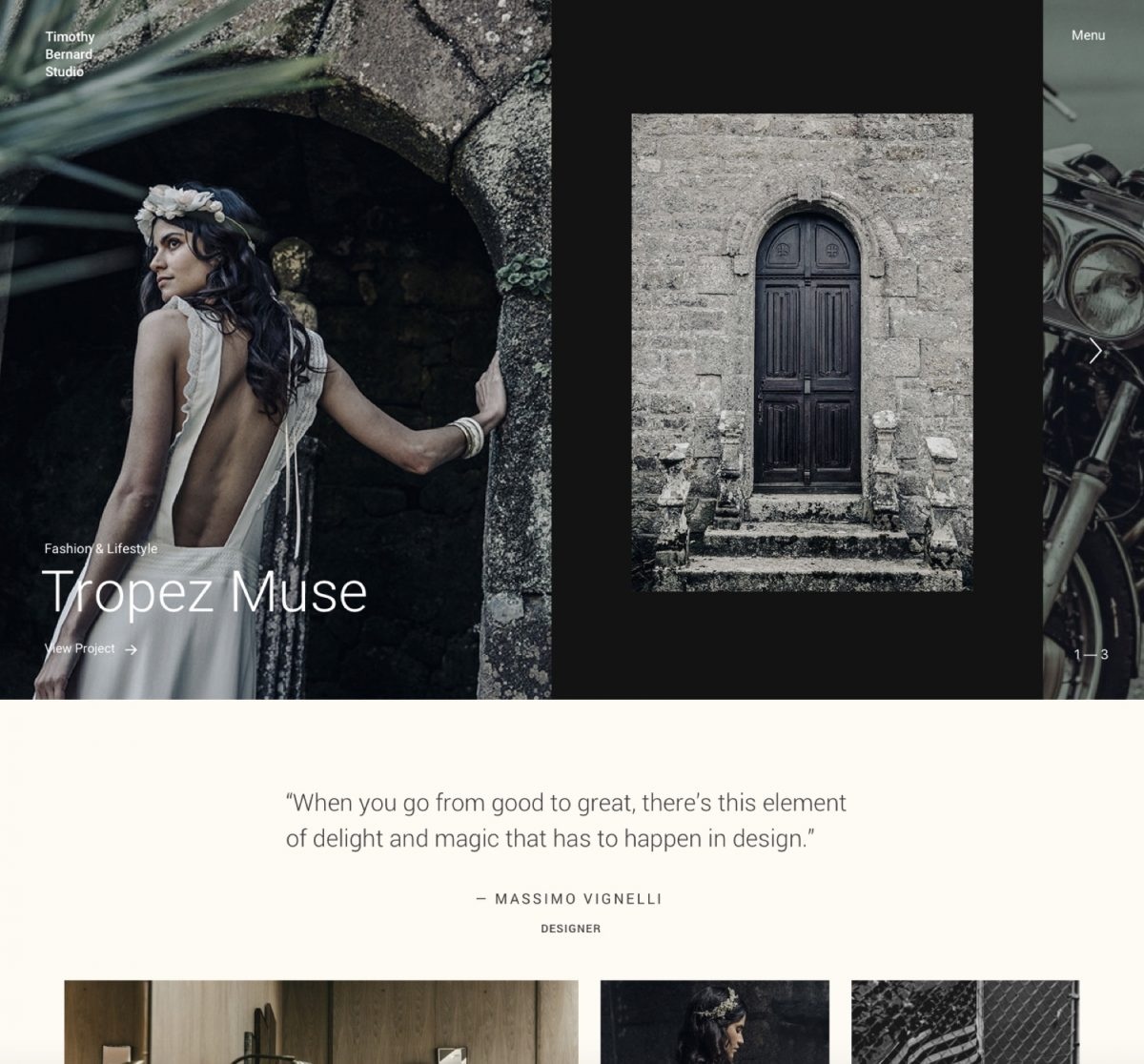 Fargo A wedding photography WordPress theme Desktop View