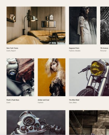 Fargo a wedding photography WordPress theme Tablet View