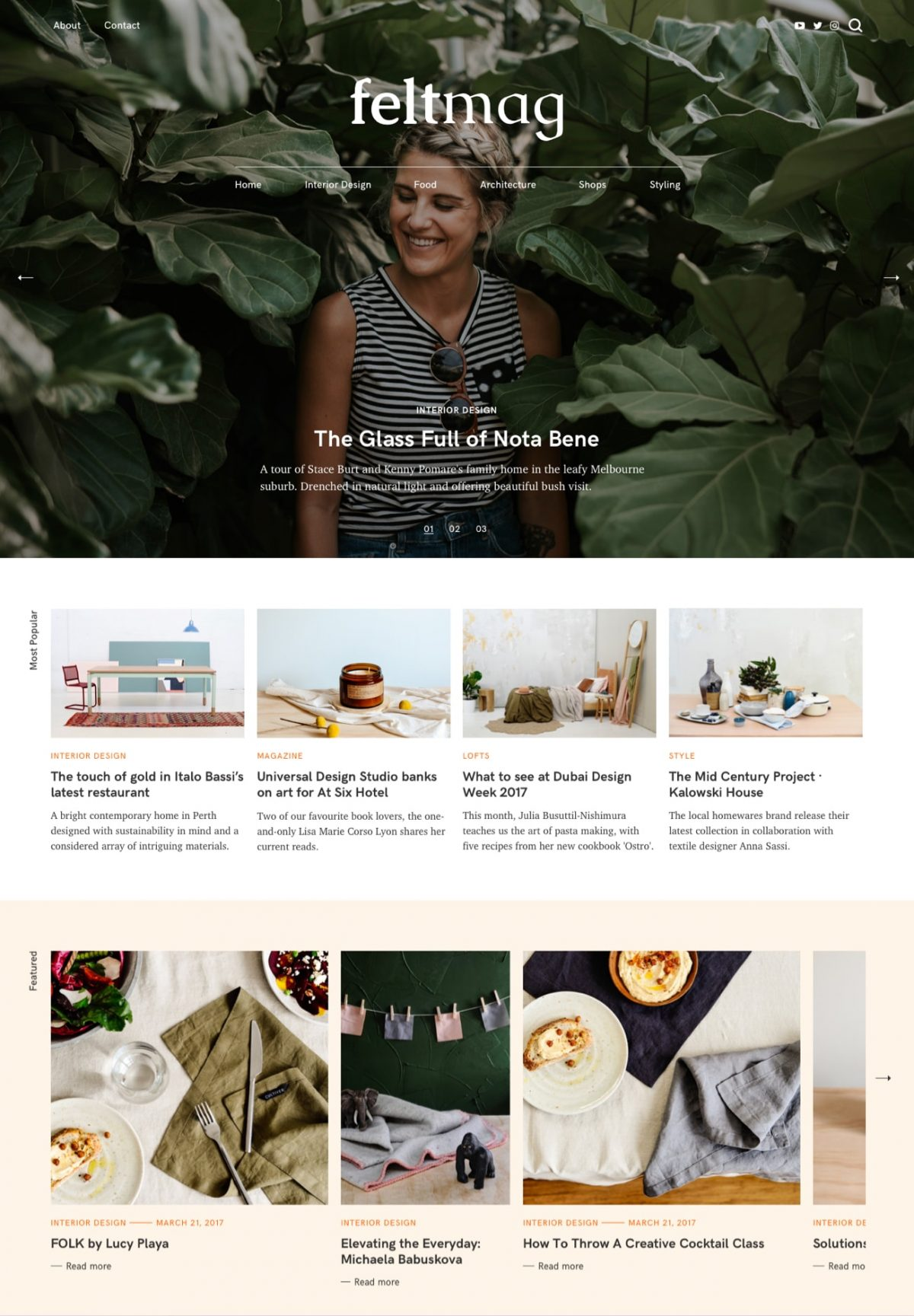 Felt Magazine WordPress Theme Desktop View