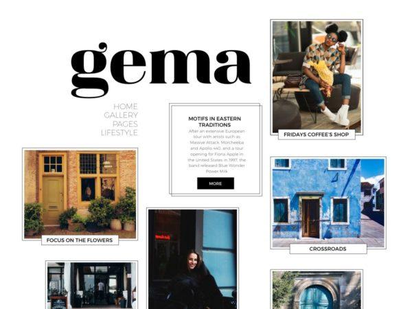 Desktop view for Gema Lite a free personal blogging WordPress theme