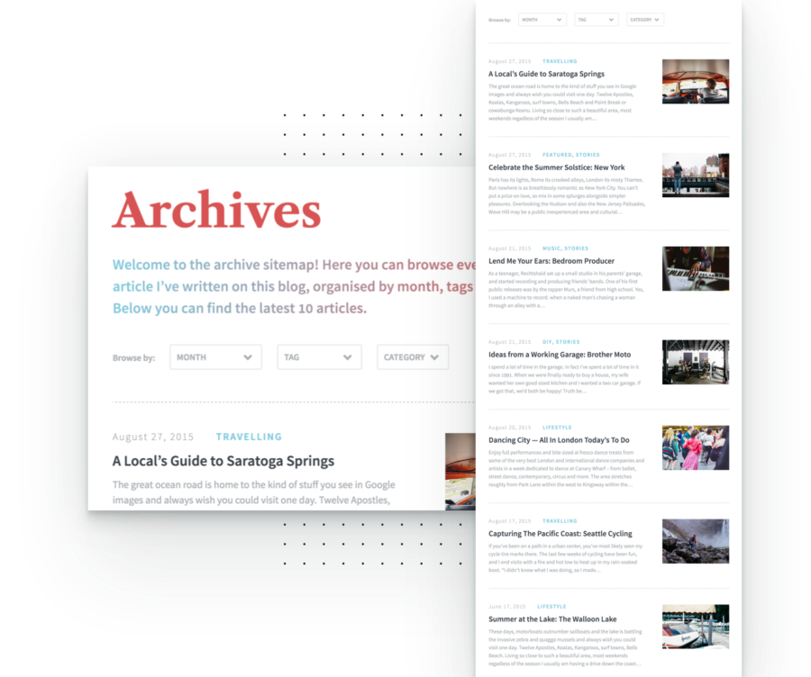 Custom Archive Page and Content Filtering