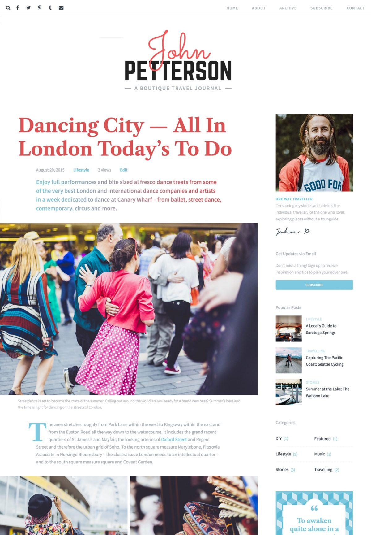 Jason editorial WordPress theme Desktop View