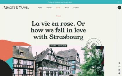 Travel blog created with Vasco a travel WordPress theme