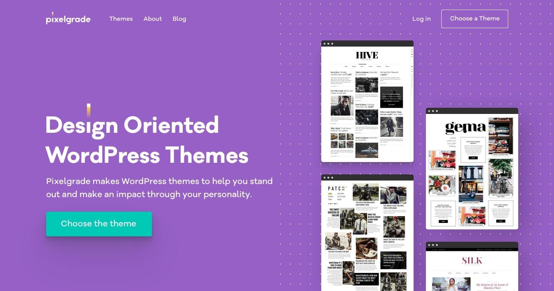 design oriented wordpress themes by pixelgrade