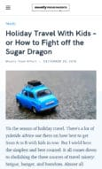Mostly Proud Parents a pareting blog that uses Felt WordPress theme