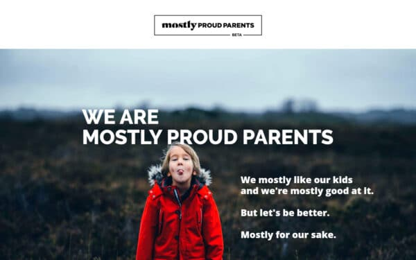 Mostly Proud Parents a pareting blog that uses Felt WordPress theme