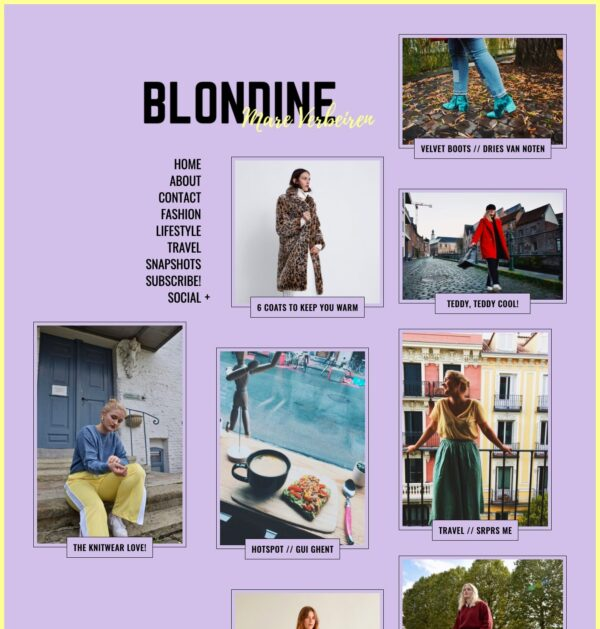 Blondine Fashion blog created with Gema WordPress theme