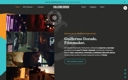Portfolio website by Guillermo Dorado using Vasco WordPress theme