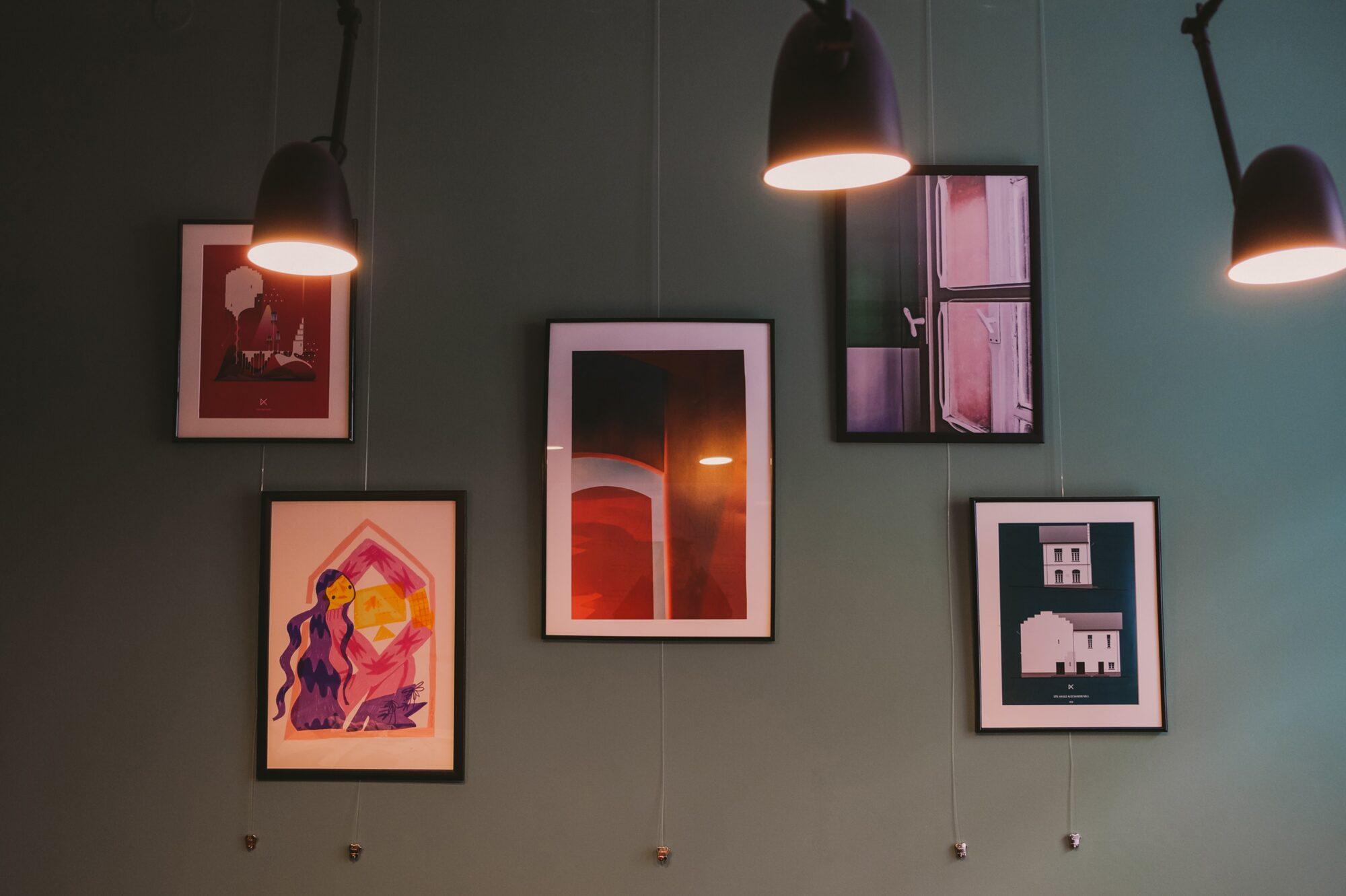 Wall of art at Pixelgrade's headquarters