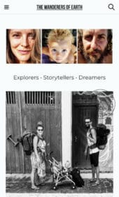 The wanderers of Earth is a travel blog created with Vasco, a travel WordPress theme - Mobile View