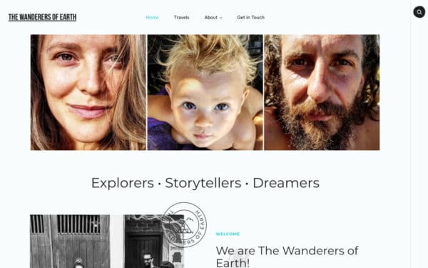 The wanderers of Earth is a travel blog created with Vasco, a travel WordPress theme