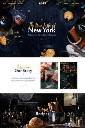 Rosa 2 best-selling restaurant WordPress theme