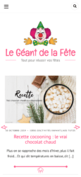 Le Geant de la Fete - Website Created with Silk - A fashion blogging WordPress theme Mobile View