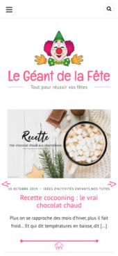 Le Geant de la Fete - Website Created with Silk - A fashion blogging WordPress theme Mobile View