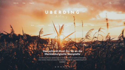 Uberding Website Desktop View Pixelgrade customer that use the Felt WordPress theme