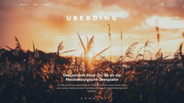 Uberding Website Desktop View Pixelgrade customer that use the Felt WordPress theme