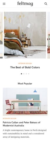 Mobile Responsive View for Felt a free magazine WordPress theme
