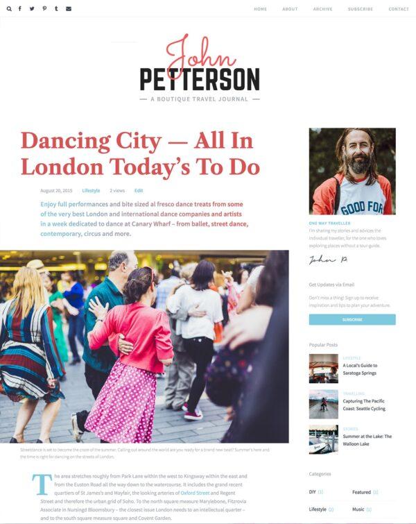 Desktop view for Jason Lite a free editorial WordPress theme
