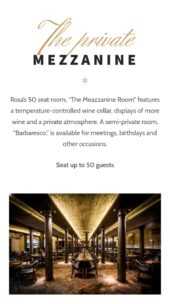 Mobile View for Rosa a free restaurant WordPress theme