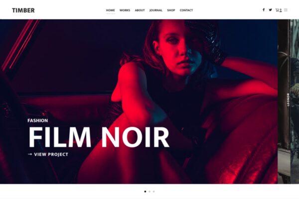 Timber Lite a Free elegant photography WordPress theme
