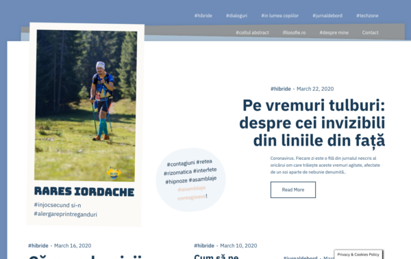 Rares Iordache - Noto WordPress Theme for Writers Desktop View